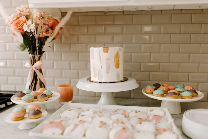 Dessert Table from a Whimsical Modern Baby Shower on Kara's Party Ideas | KarasPartyIdeas.com (27)
