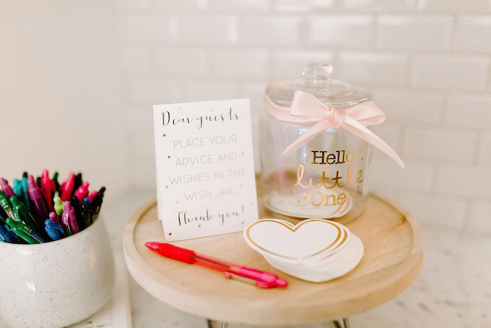 Notes For Baby from a Whimsical Modern Baby Shower on Kara's Party Ideas | KarasPartyIdeas.com (21)