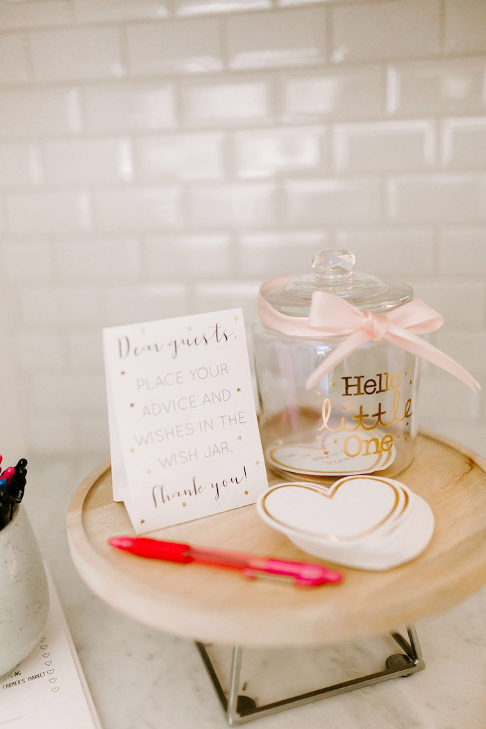 Notes For Baby from a Whimsical Modern Baby Shower on Kara's Party Ideas | KarasPartyIdeas.com (20)