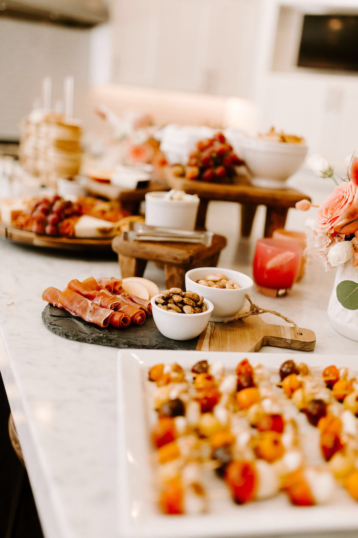 Charcuterie Spread from a Whimsical Modern Baby Shower on Kara's Party Ideas | KarasPartyIdeas.com (19)