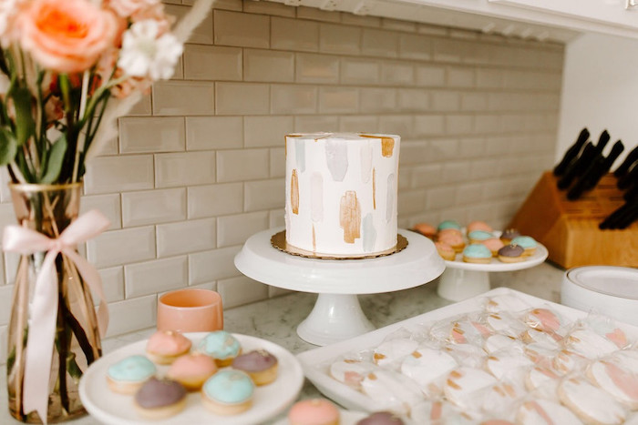 Dessert Table from a Whimsical Modern Baby Shower on Kara's Party Ideas | KarasPartyIdeas.com (14)