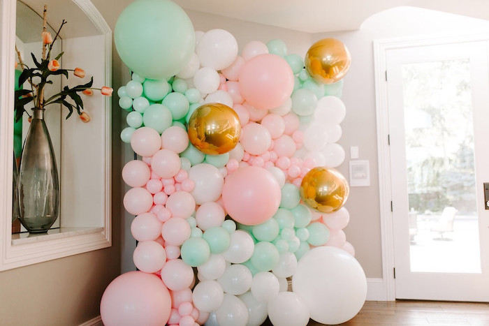Whimsical Balloon Wall from a Whimsical Modern Baby Shower on Kara's Party Ideas | KarasPartyIdeas.com (13)