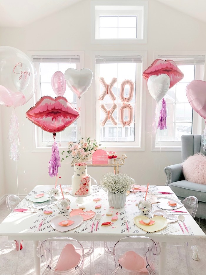 """Lips like Sugar"" Galentine's Party on Kara's Party Ideas 