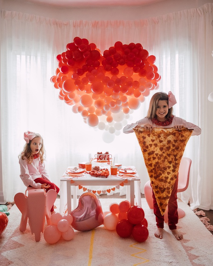 """Love you to Pizzas"" Valentine's Day Party on Kara's Party Ideas 
