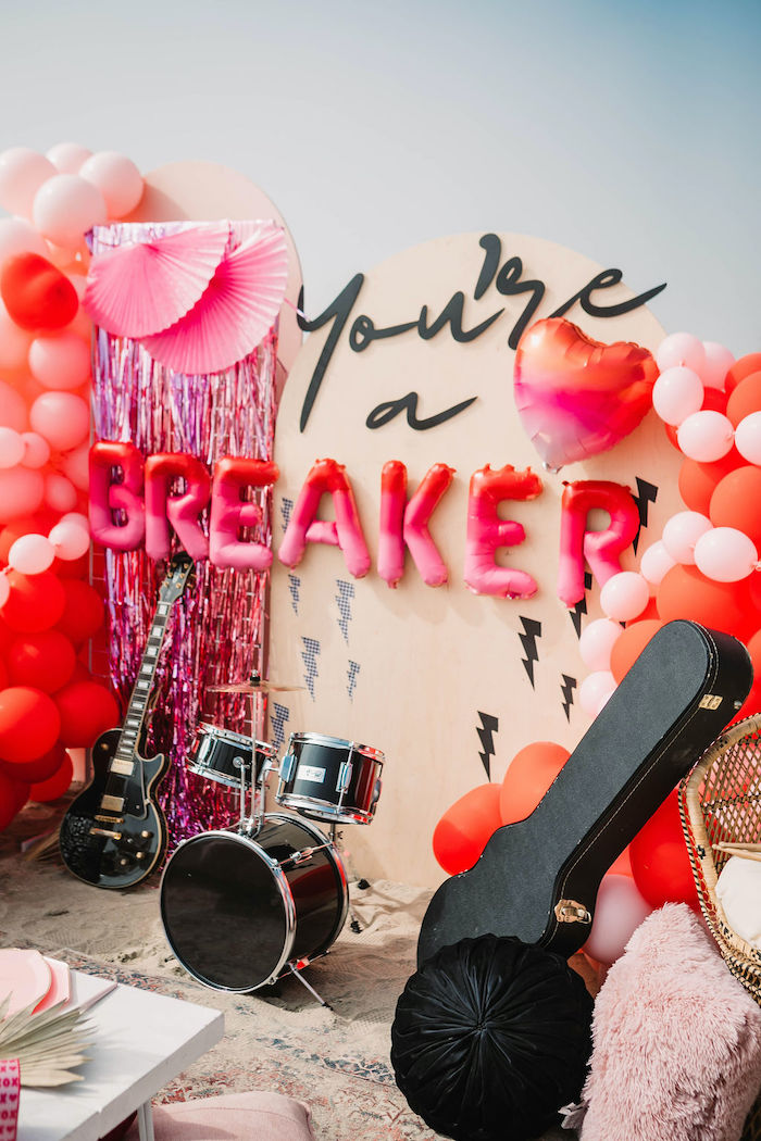 """""""You're a Heartbreaker"""" Rock & Roll Valentine's Day Party on Kara's Party Ideas   KarasPartyIdeas.com (27)"""