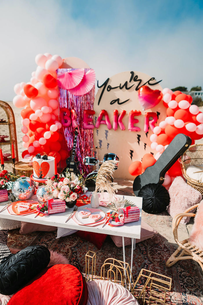 """""""You're a Heartbreaker"""" Rock & Roll Valentine's Day Party on Kara's Party Ideas   KarasPartyIdeas.com (4)"""