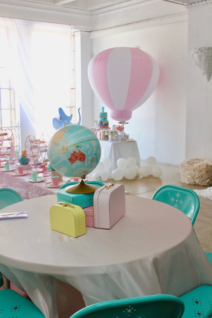 """Oh the Places You'll Go Dr. Seuss Guest Table from a Dr. Seuss ""Oh the places You'll Go"" Party on Kara's Party Ideas 