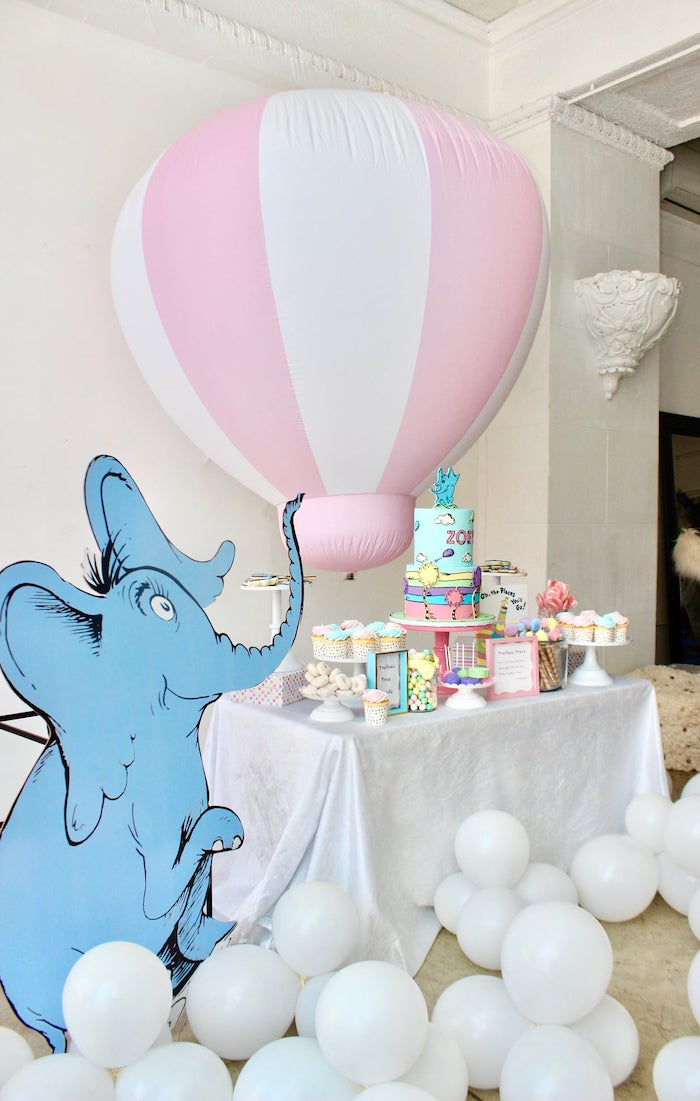 "Dr. Seuss-inspired Sweet Table from a Dr. Seuss ""Oh the places You'll Go"" Party on Kara's Party Ideas 