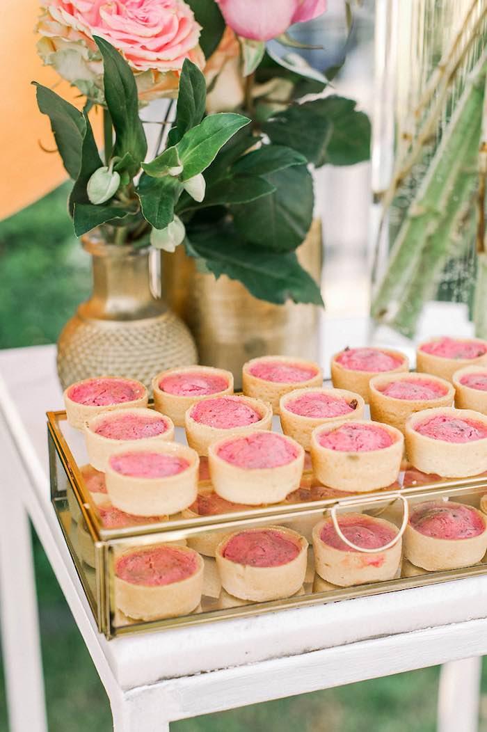 Dessert Tarts from an Elegant Floral Baptism Party on Kara's Party Ideas | KarasPartyIdeas.com (20)