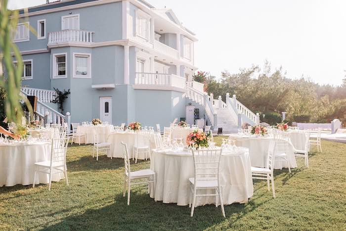Guest Tables from an Elegant Floral Baptism Party on Kara's Party Ideas | KarasPartyIdeas.com (12)