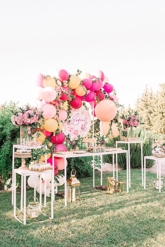 Elegant Floral Baptism Party on Kara's Party Ideas | KarasPartyIdeas.com (6)