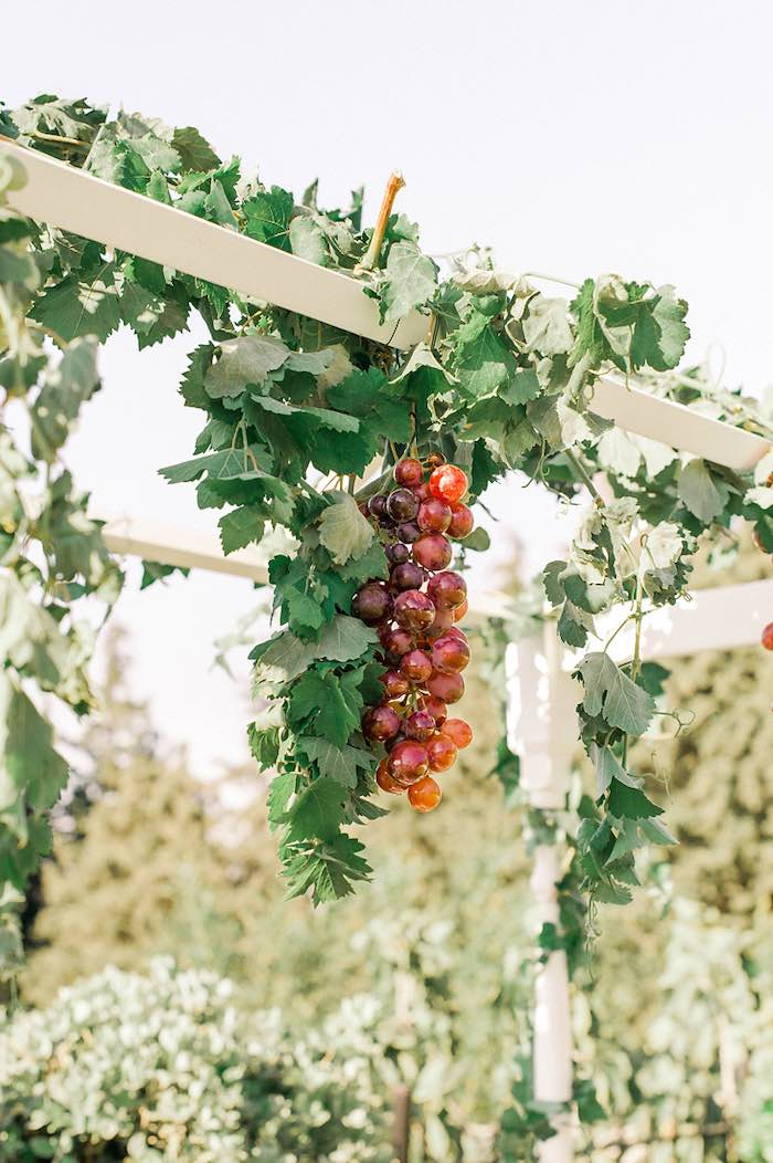 Cascading Vines from an Elegant Floral Baptism Party on Kara's Party Ideas | KarasPartyIdeas.com (34)