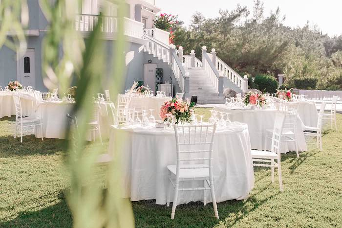 Guest Tables from an Elegant Floral Baptism Party on Kara's Party Ideas | KarasPartyIdeas.com (32)