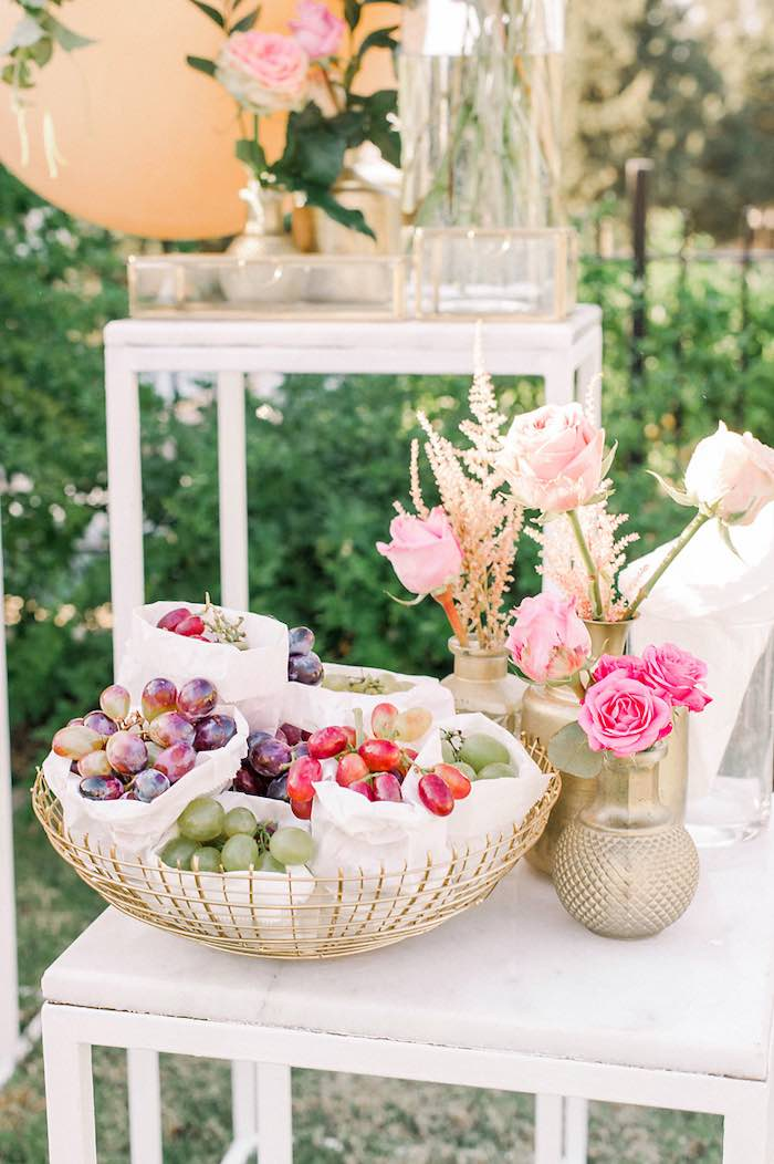 Flowers & Grapes from an Elegant Floral Baptism Party on Kara's Party Ideas | KarasPartyIdeas.com (31)