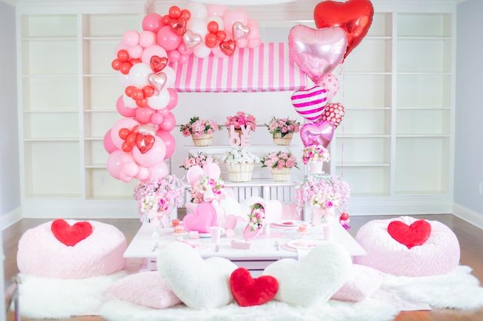 Flower Shop Valentine's Day Party on Kara's Party Ideas | KarasPartyIdeas.com (19)