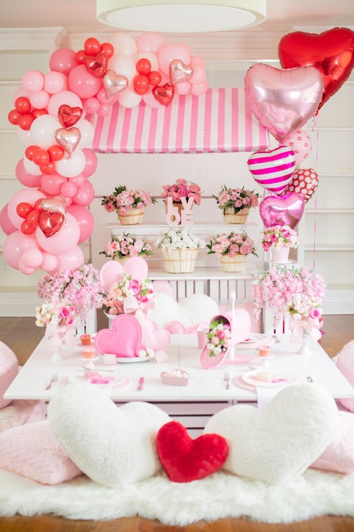 Flower Shop Valentine's Day Party on Kara's Party Ideas | KarasPartyIdeas.com (17)