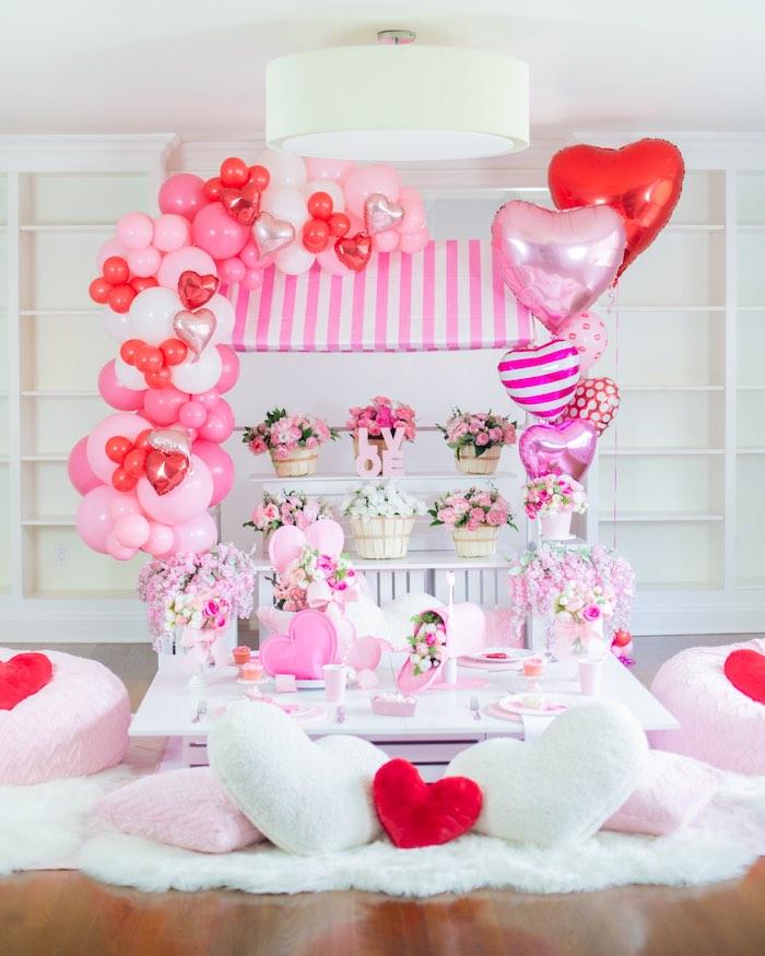 Flower Shop Valentine's Day Party on Kara's Party Ideas | KarasPartyIdeas.com (33)