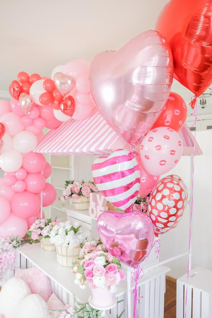 Flower Shop Valentine's Day Party on Kara's Party Ideas | KarasPartyIdeas.com (14)