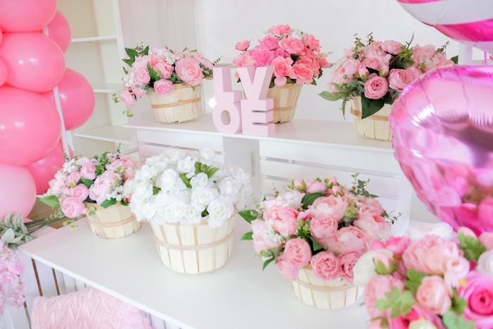 Flower Shop Valentine's Day Party on Kara's Party Ideas | KarasPartyIdeas.com (13)