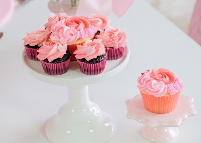 Valentine's Day Cupcakes from a Flower Shop Valentine's Day Party on Kara's Party Ideas | KarasPartyIdeas.com (9)