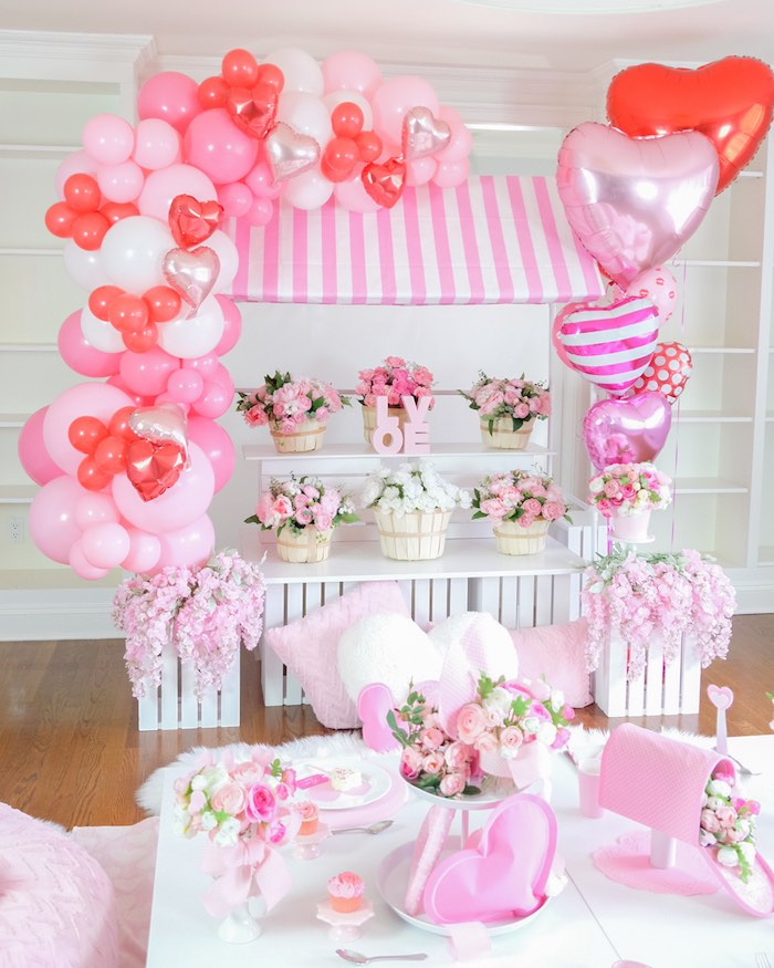 Flower Shop Valentine's Day Party on Kara's Party Ideas | KarasPartyIdeas.com (32)
