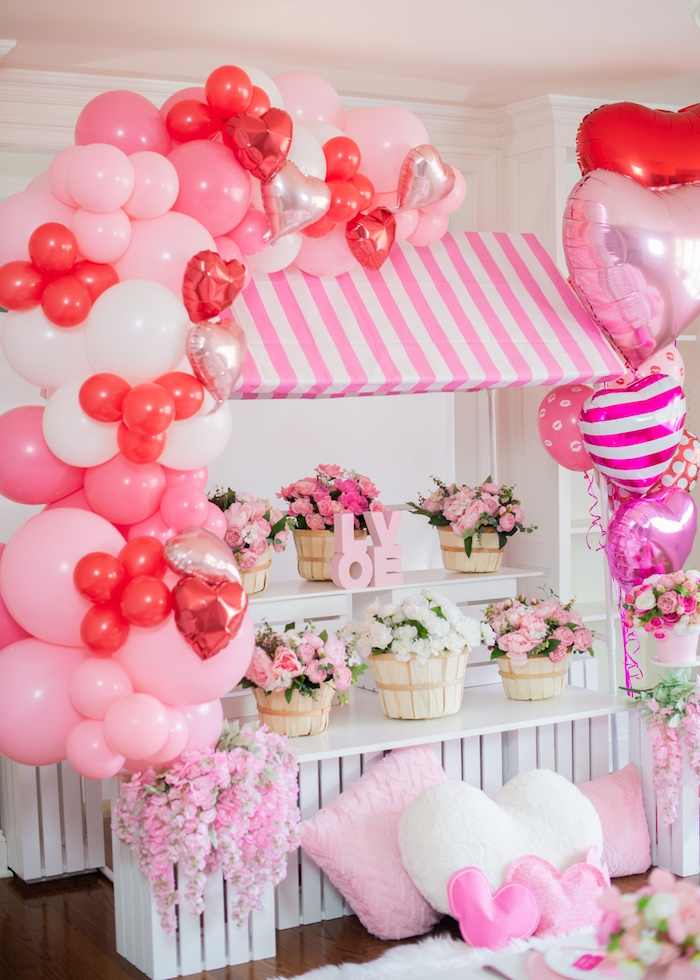 Valentine's Day Flower Shop from a Flower Shop Valentine's Day Party on Kara's Party Ideas | KarasPartyIdeas.com (25)