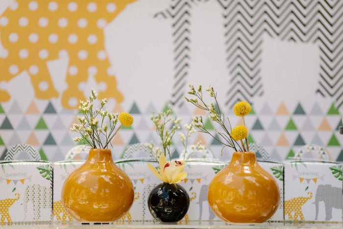 Florals from a Geometric Jungle Animal Christening on Kara's Party Ideas | KarasPartyIdeas.com (18)