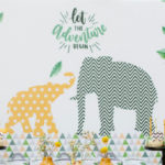 Geometric Jungle Animal Christening on Kara's Party Ideas | KarasPartyIdeas.com (4)