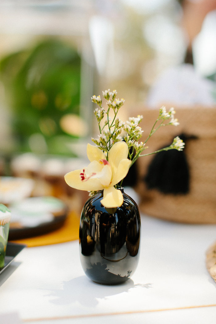 Florals from a Geometric Jungle Animal Christening on Kara's Party Ideas | KarasPartyIdeas.com (26)