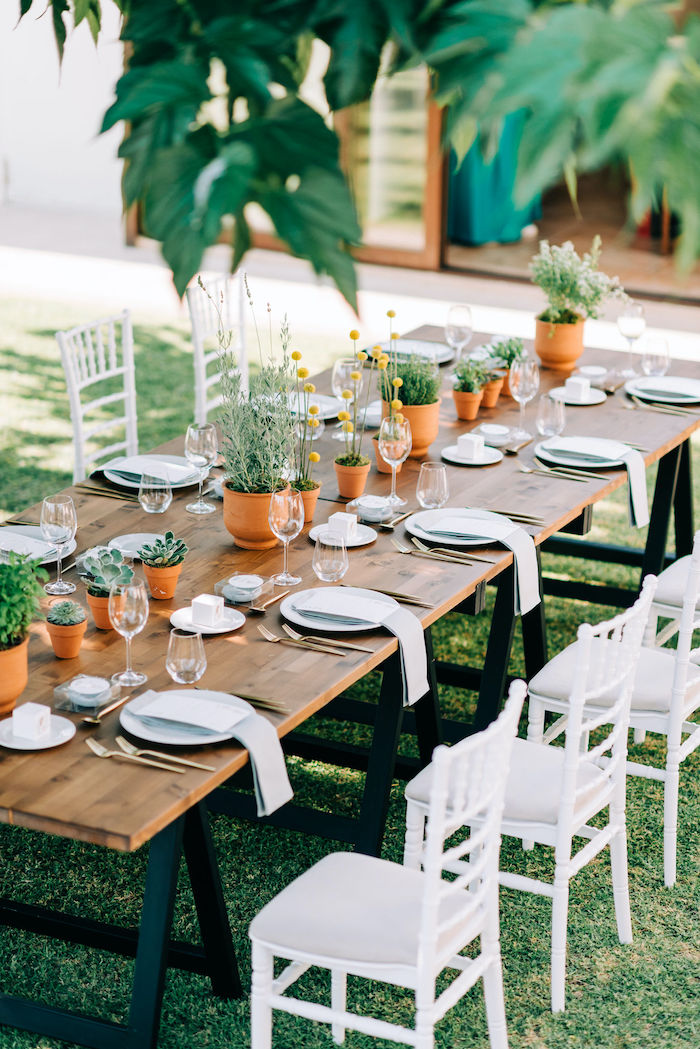Greek Garden-inspired Guest Table from a Hermes Greek God Inspired Christening Party on Kara's Party Ideas | KarasPartyIdeas.com (21)