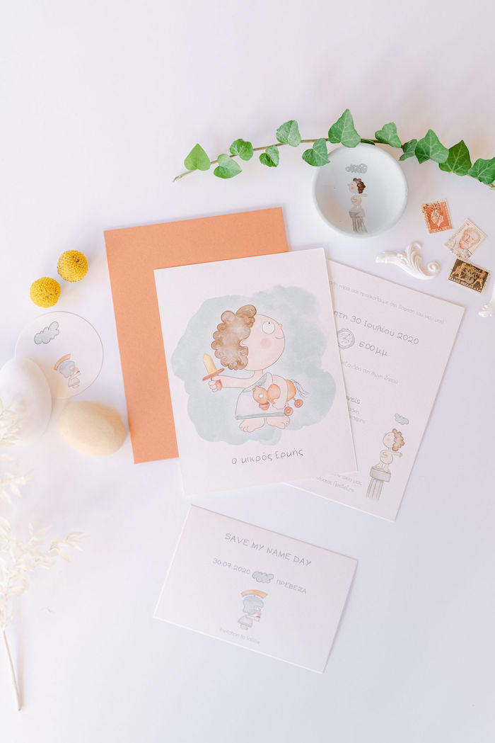 Hermes the Greek God Party Invite + Stationery from a Hermes the Greek God Stationery from a Hermes Greek God Inspired Christening Party on Kara's Party Ideas | KarasPartyIdeas.com (38)