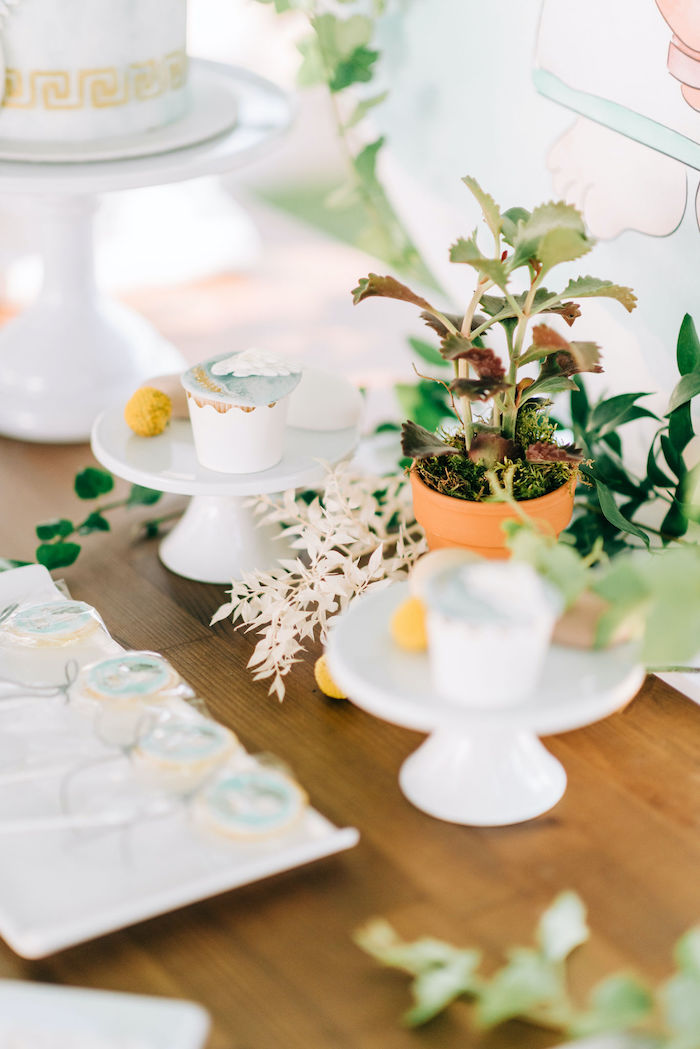 Plants + Foliage from a Hermes Greek God Inspired Christening Party on Kara's Party Ideas | KarasPartyIdeas.com (12)