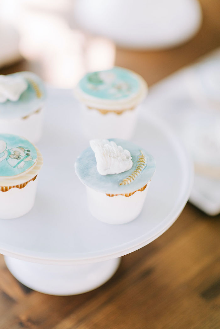 Hermes-inspired Cupcakes from a Hermes Greek God Inspired Christening Party on Kara's Party Ideas | KarasPartyIdeas.com (10)