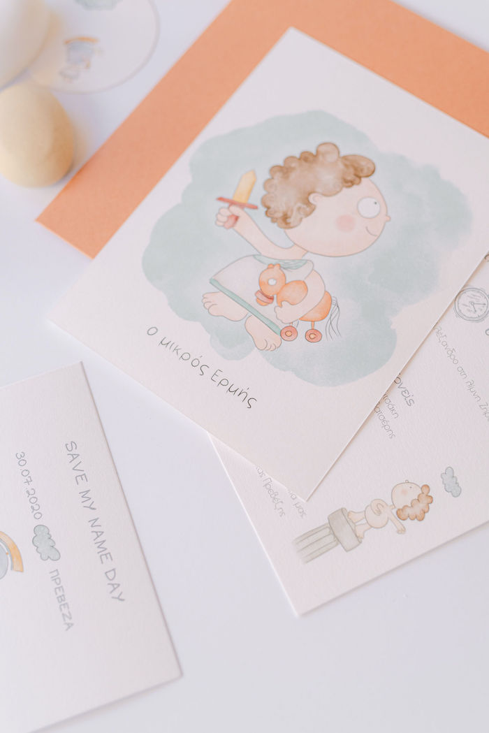 Hermes-printed Party Invite from a Hermes Greek God Inspired Christening Party on Kara's Party Ideas | KarasPartyIdeas.com (37)