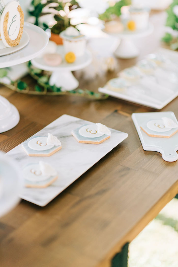 Lettered & Winged Cookies from a Hermes Greek God Inspired Christening Party on Kara's Party Ideas | KarasPartyIdeas.com (7)