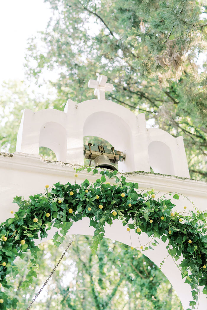 Greenery Arch from a Hermes Greek God Inspired Christening Party on Kara's Party Ideas | KarasPartyIdeas.com (4)