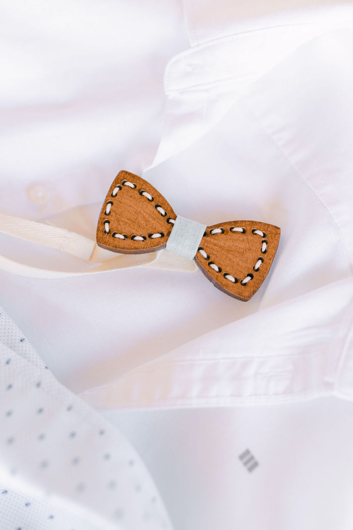 Laced Bow-tie from a Hermes Greek God Inspired Christening Party on Kara's Party Ideas | KarasPartyIdeas.com (33)