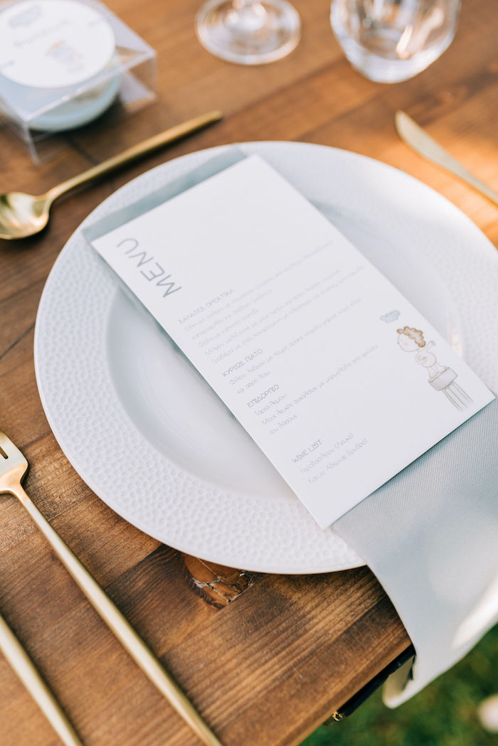 Hermes Menu Card from a Hermes Greek God Inspired Christening Party on Kara's Party Ideas | KarasPartyIdeas.com (30)