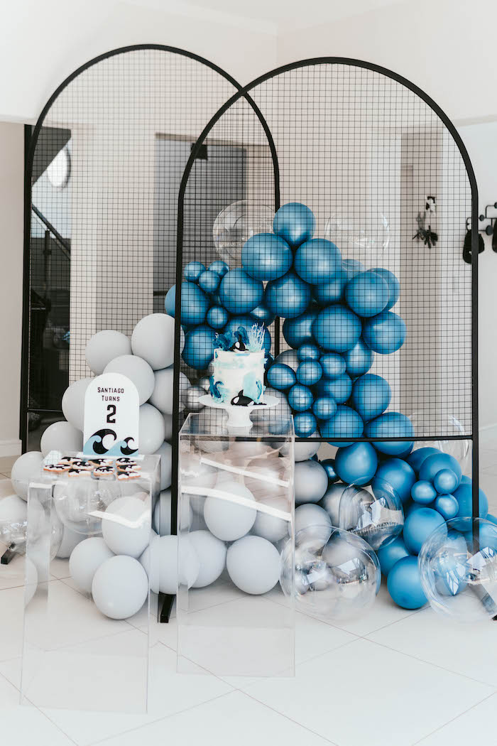 Monochromatic Orca Whale Birthday Party on Kara's Party Ideas | KarasPartyIdeas.com (7)
