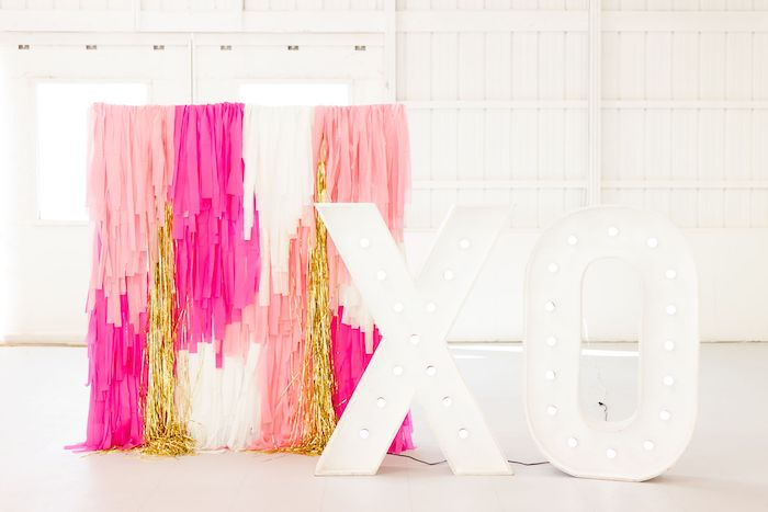 XO Tassel Backdrop + Photo Booth from an Ombré Galentines on Kara's Party Ideas | KarasPartyIdeas.com (23)