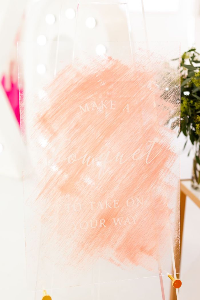 Brushed Acrylic Sign from an Ombré Galentines on Kara's Party Ideas | KarasPartyIdeas.com (39)