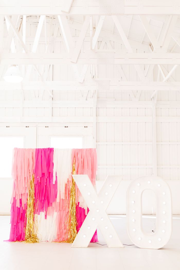 XO Tassel Backdrop + Photo Booth from an Ombré Galentines on Kara's Party Ideas | KarasPartyIdeas.com (31)