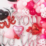 "Pink Cosmic ""Love You to the Moon"" Valentine's Day Party on Kara's Party Ideas 