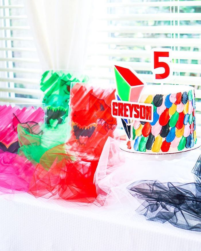 Power Rangers Cake Table from a Power Rangers Birthday Party on Kara's Party Ideas | KarasPartyIdeas.com (14)