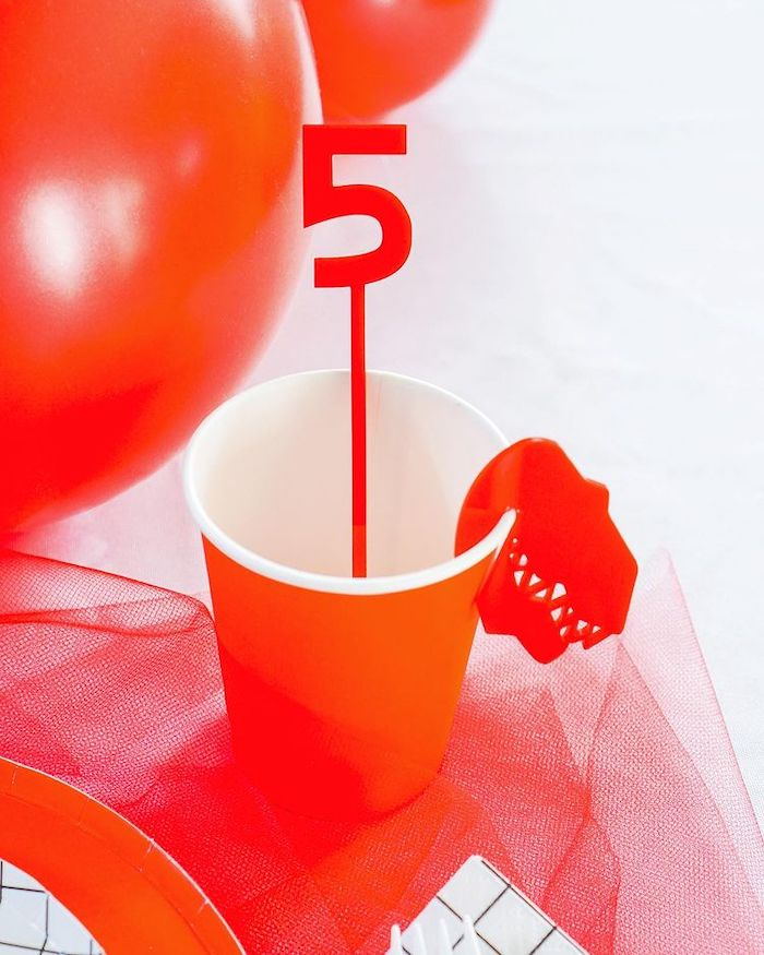 Red Ranger Cup from a Power Rangers Birthday Party on Kara's Party Ideas | KarasPartyIdeas.com (9)