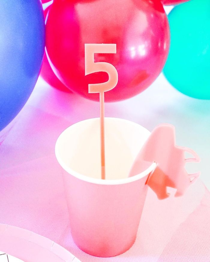 Pink Ranger Cup from a Power Rangers Birthday Party on Kara's Party Ideas | KarasPartyIdeas.com (7)