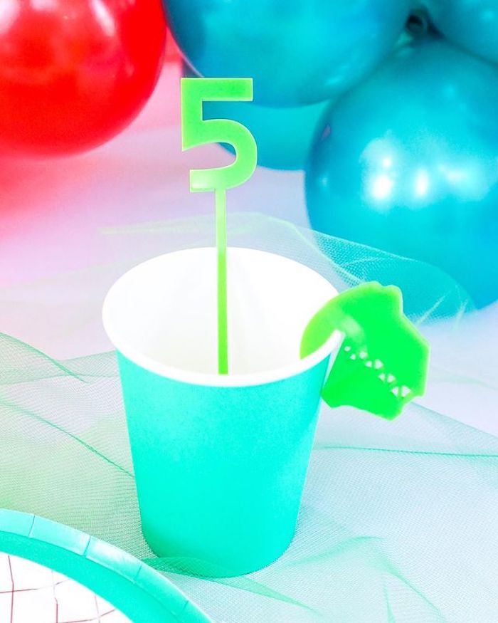 Green Ranger Cup from a Power Rangers Birthday Party on Kara's Party Ideas | KarasPartyIdeas.com (24)