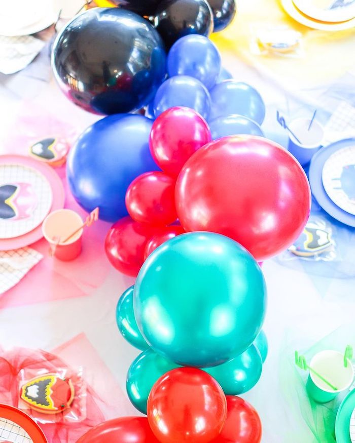 Power Rangers-inspired Balloon Runner from a Power Rangers Birthday Party on Kara's Party Ideas | KarasPartyIdeas.com (21)