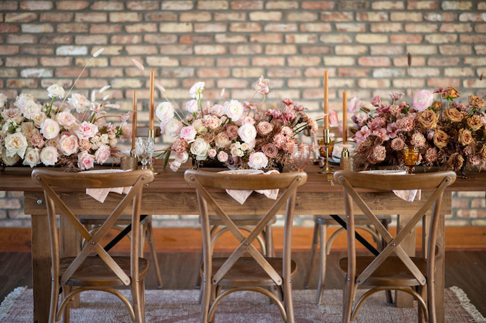 Rustically Elegant Guest Table from a Rustic Floral Teddy Bear Baby Shower on Kara's Party Ideas | KarasPartyIdeas.com (34)