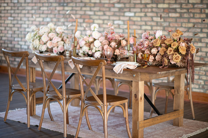 Rustically Elegant Guest Table from a Rustic Floral Teddy Bear Baby Shower on Kara's Party Ideas | KarasPartyIdeas.com (33)